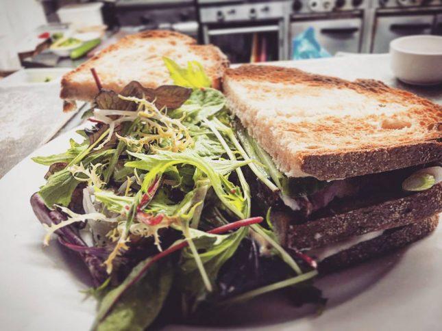 This is one special steak sandwich gorgeous sirloin steak cucumberhellip