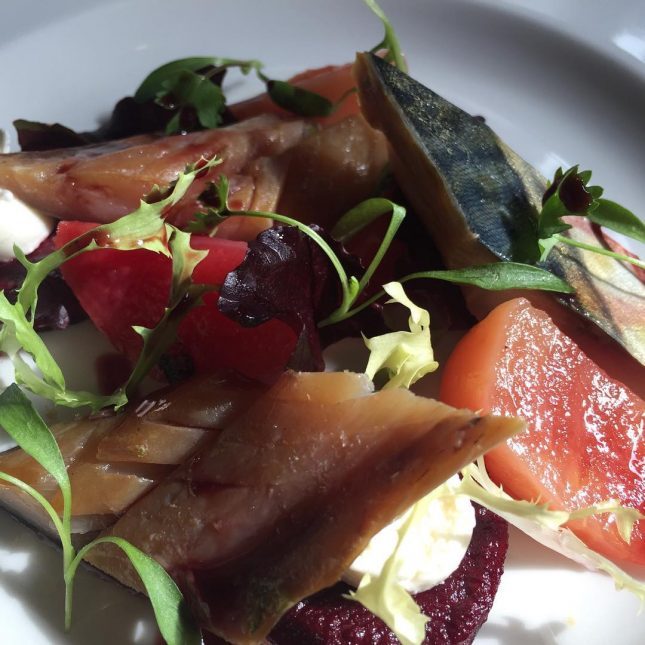 special homesmoked mackerel purple amp candied beetroot amp goats cheesehellip