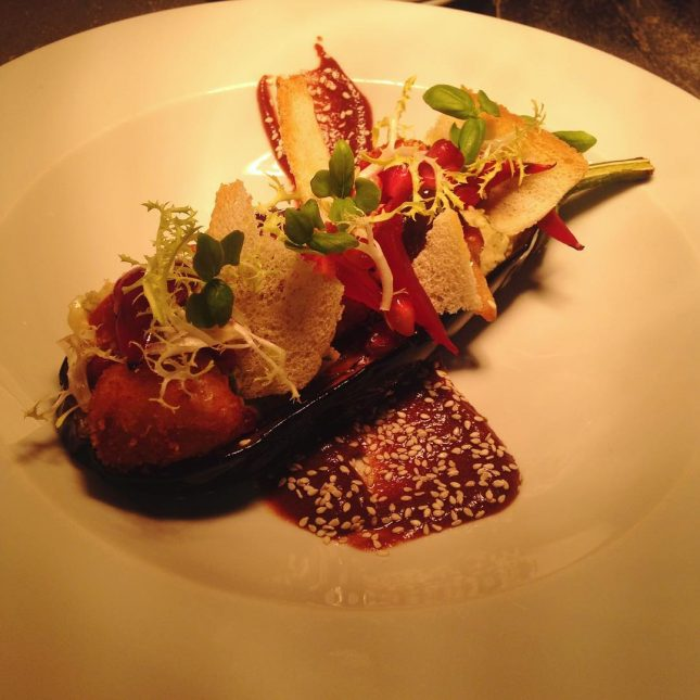 Come and try our new aubergine dish! New and improved!hellip