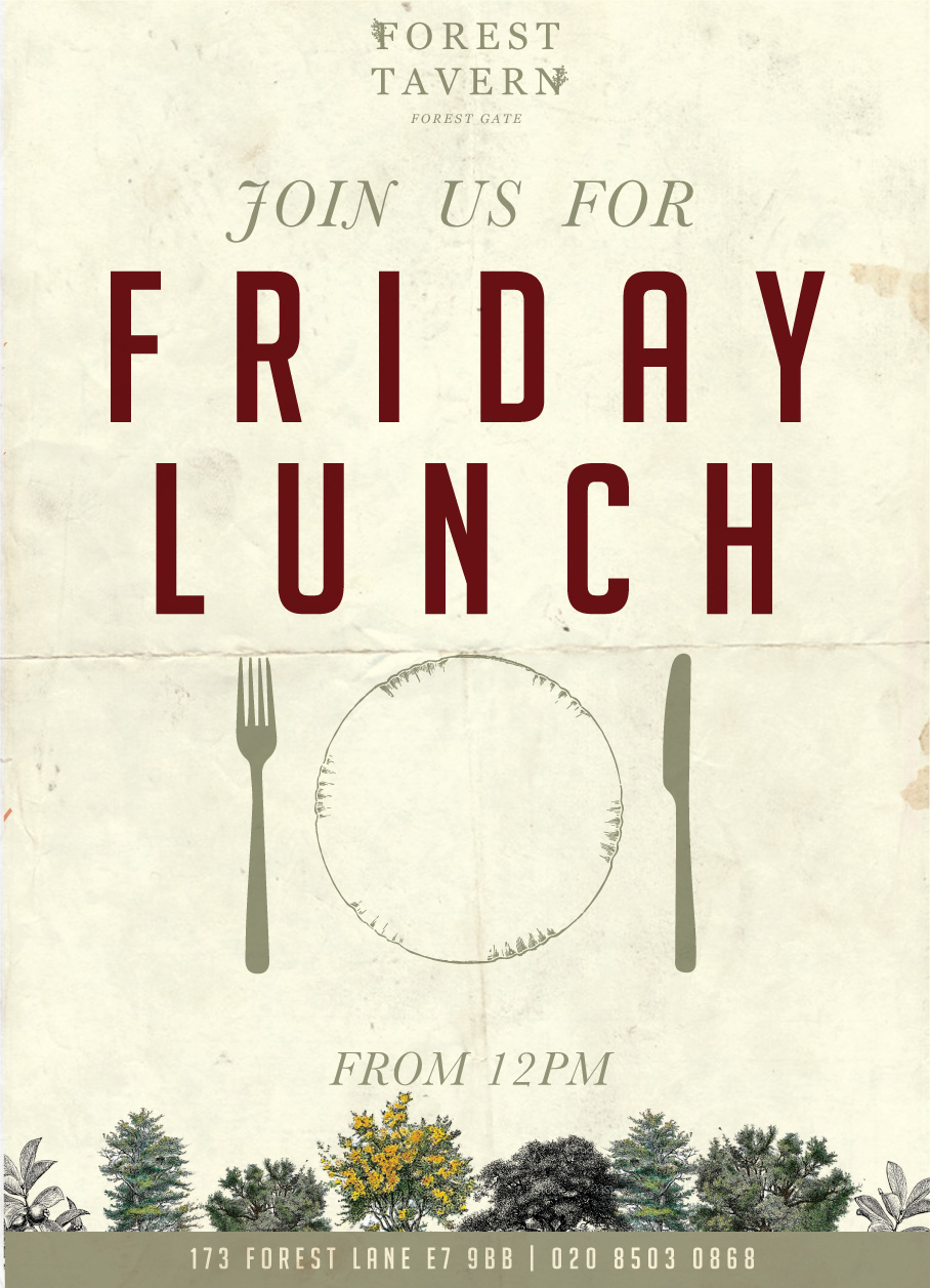 Now Open for Friday Lunch