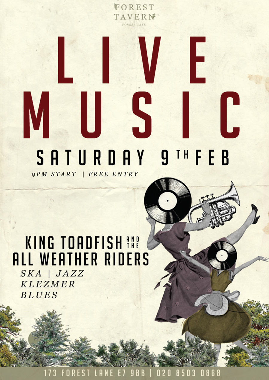 Live Music with King Toadfish and the All Weather Riders